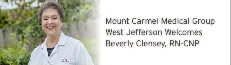 Mount Carmel Medical Group West Jefferson welcomes Beverly Clensey RN-CNP