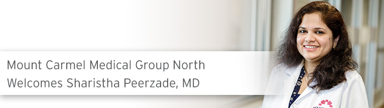 Welcome, Sharistha Peerzade, MD
