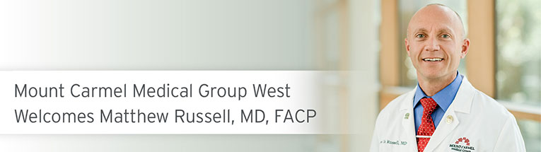 Welcome, Matthew Russell, MD, FACP